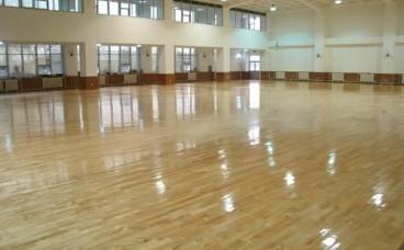 运动木地板的施工
