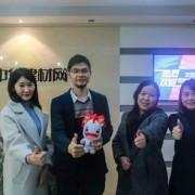 艾臣门窗品牌部总监陈纪宗前往中华门窗网探访