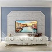三款简单大方漂亮的电视墙欣赏!